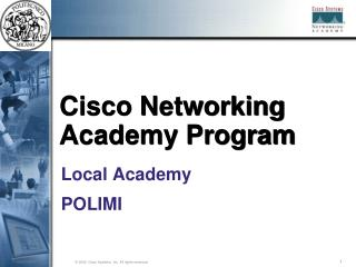 Cisco Networking Academy Program