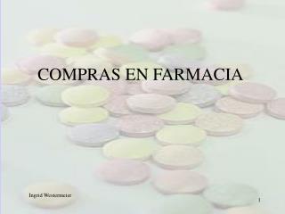 COMPRAS EN FARMACIA