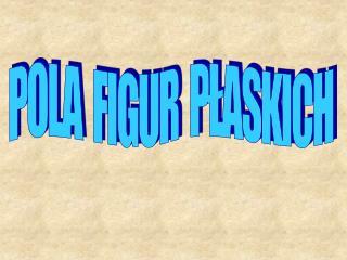 POLA  FIGUR  PLASKICH