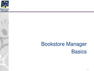 Bookstore Manager Basics