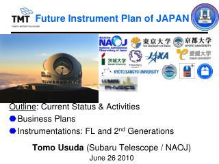 Future Instrument Plan of JAPAN