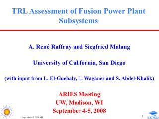TRL Assessment of Fusion Power Plant Subsystems
