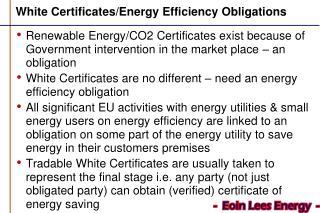 White Certificates