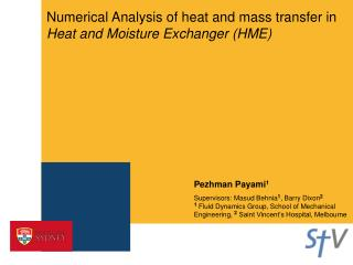 Numerical Analysis of heat and mass transfer in Heat and Moisture Exchanger HME