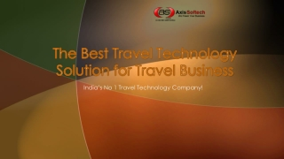 The Best Travel Technology Solution for Travel Business