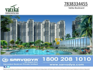 Vatika Boulevard Sector 83 Gurgaon 7838334455 Vatika Bouleva