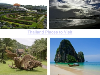 Thailand Places to Visit