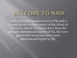 Nadi flights and Travel guide