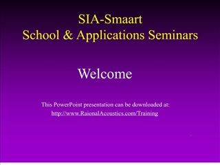 sia-smaart  school  applications seminars