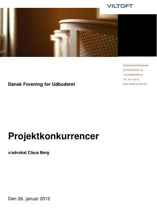 Dansk Forening for Udbudsret       Projektkonkurrencer  v
