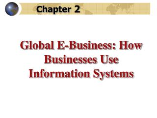 Global E-Business: How Businesses Use Information Systems