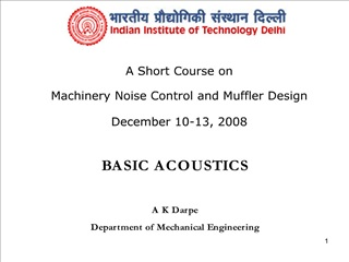 basic acoustics   a k darpe  department of mechanical engineering