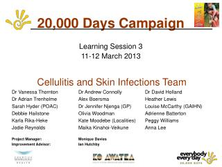 20,000 Days Campaign  Learning Session 3  11-12 March 2013