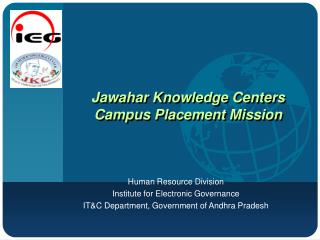 Jawahar Knowledge Centers Campus Placement Mission