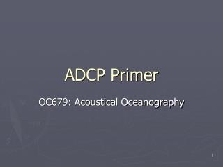 ADCP Primer