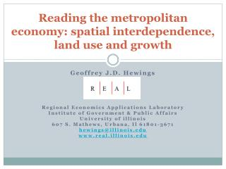 Reading the metropolitan economy: spatial interdependence, land use and growth