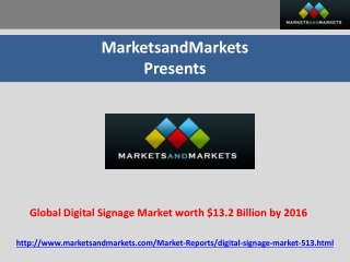 Global Digital Signage Market
