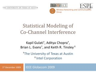 Statistical Modeling of  Co-Channel Interference