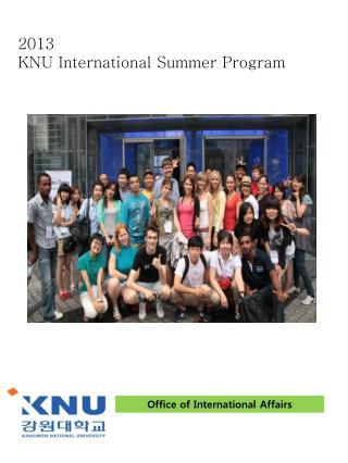 2013  KNU International Summer Program