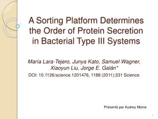 A Sorting Platform Determines the Order of Protein Secretion in Bacterial Type III Systems