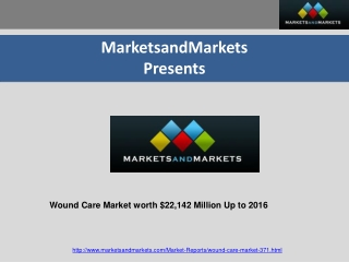 Wound Care Market worth $22,142 Million Up to 2016