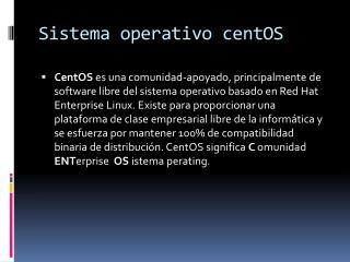 Sistema operativo centOS
