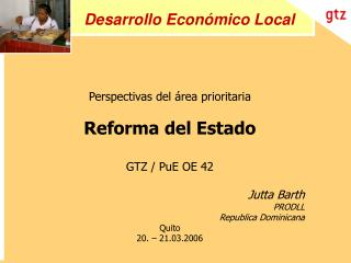 Desarrollo Econ mico Local