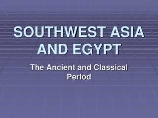 New Empires of Western Asia