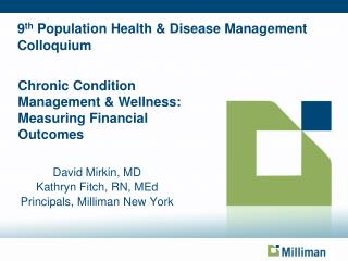 9th Population Health  Disease Management Colloquium