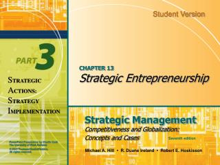 CHAPTER 13 Strategic Entrepreneurship