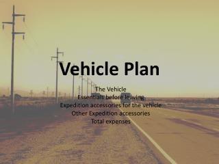Vehicle Plan