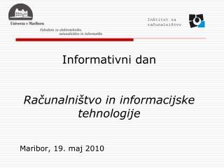 Informativni dan   Racunalni tvo in informacijske tehnologije