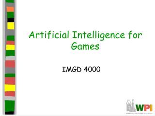 AI for Games