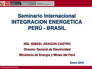 Seminario Internacional INTEGRACION ENERGETICA PER  - BRASIL