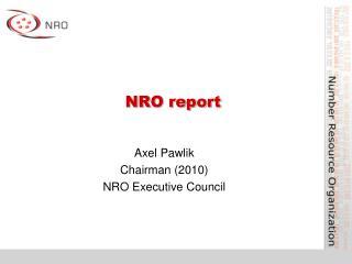 NRO report