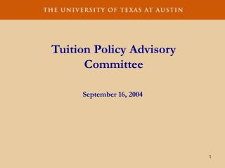 Tuition Policy Advisory Committee