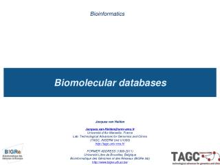 Biomolecular databases