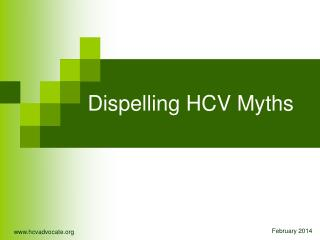 Exposing HCV Myths