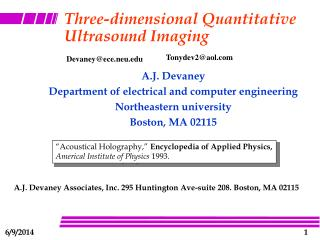 three-dimensional quantitative ultrasound imaging