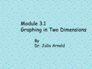 Module 3.1 Graphing in Two Dimensions