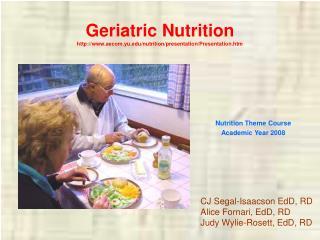 Geriatric Nutrition aecom.yu
