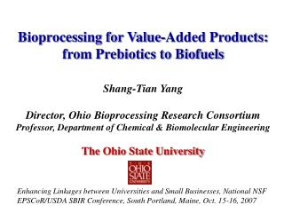 Bioprocessing for Value-Added Products: from Prebiotics to Biofuels