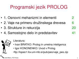 Programski jezik PROLOG