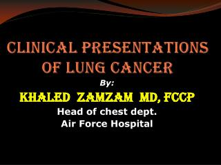 Clinical presentations of lung cancer