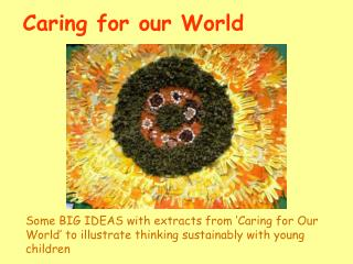 Caring for our World