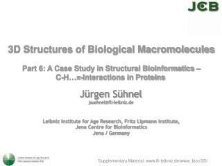 3D Structures of Biological Macromolecules  Part 6: A Case Study in Structural Bioinformatics   C-H -Interactions in Pro