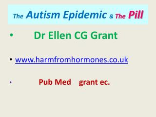 The Autism Epidemic  The Pill