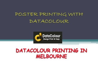 Poster Printing with Datacolour
