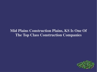 Mid Plains Construction Plains, KS