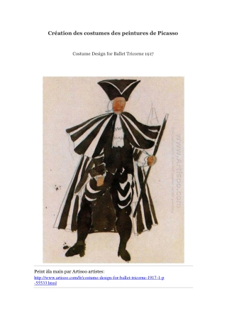 Création des costumes des peintures de Picasso -- Artisoo